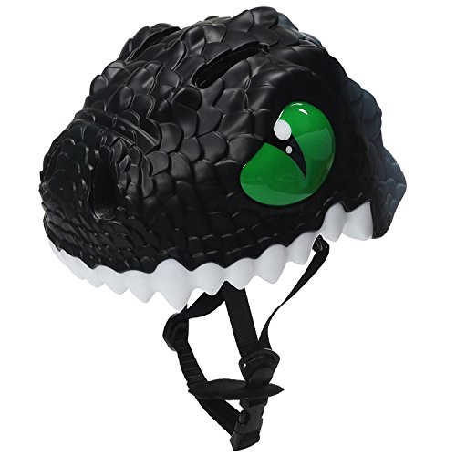 Bavilk Toddler Multi Sports Helmet 3D Cartoon Kids Bike Helmets for Girls&Boys (Black Dinosaur) ()