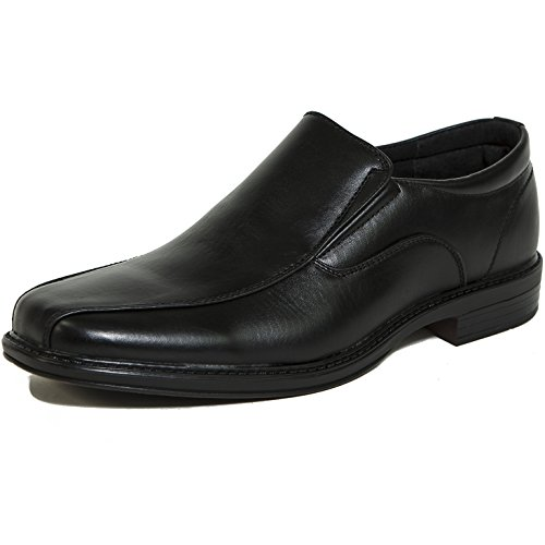 Alpine Swiss Mens Dress Shoes Black Leather Lined Slip on Loafers 11 M (Alpine Mens Shoes)