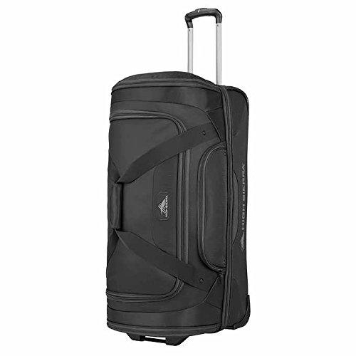 High Sierra 30'' Drop-Bottom Wheeled Rolling Duffel Bag, Black 1169241 by High Sierra