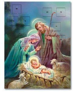 Pack of 12 - Sleep in Heavenly Peace Nativity Advent Calendar