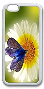 iPhone 6 Cases, Personalized Protective Case for New iPhone 6 Soft White Edge Butterfly Flower