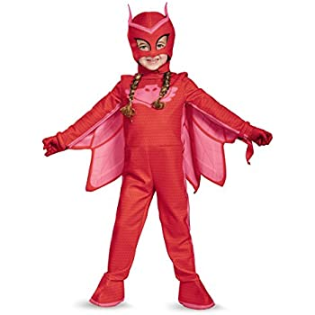 Owlette Deluxe Toddler PJ Masks Jumpsuit with Attached Boot Covers, Large/4-6X