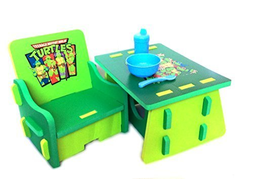 Nickelodeon Teenage Mutant Ninja Turtles Table and Chair Set with Storage by Nickelodeon