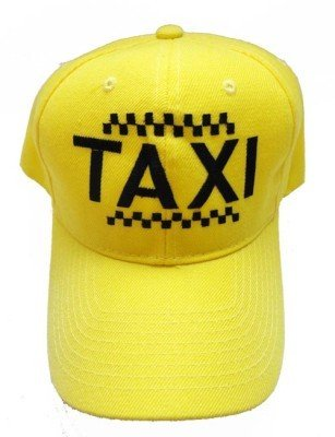 Yellow Cab Taxi Driver Funny Embroidery Adjustable Structured Baseball Hat (Cab Driver Hats)