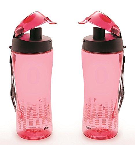 Cello Sprinter Sports Bottle Set, 700ml, Set of 2, Dark Pink