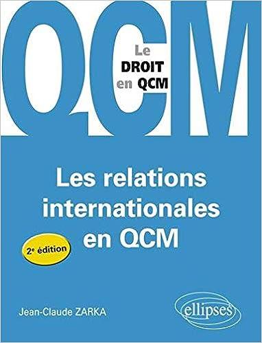 Book's Cover of Les Relations Internationales en Qcm (Français) Broché – 4 octobre 2011