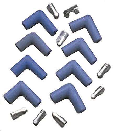 Taylor Cable 46061 Blue 90-Degree Spark Plug Boot/Terminal Kit - Pack of (90 Degree Boots)