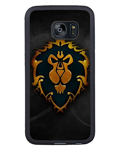 Samsung Galaxy S7 Edge World Of Warcraft Logo Alliance Black Shell Case,Newest Design