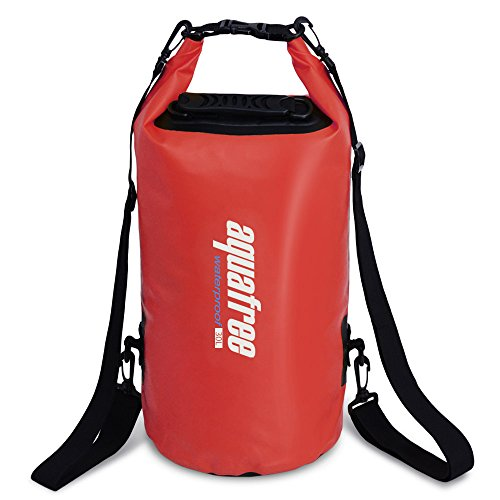 - aquafree 30L Red Waterproof Dry Bag with Adjuctable Shoulder Strap prefectly for Swimming Kayaking Boating Rafting Sailing Canoe SUP Fishing Surfing Diving Snorkeling and Water Sport