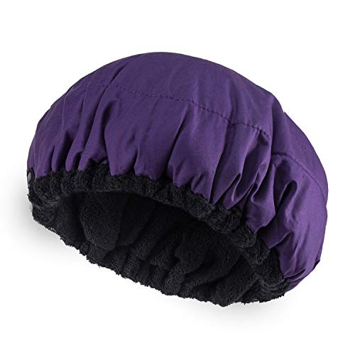 Deep Conditioning Heat Cap Microwavable Heat Cap for Steaming Hair Styling and Treatment Steam Cap Steaming Haircare Therapy (Purple) from Debecty