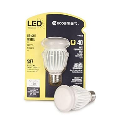 EcoSmart 40W Equivalent Bright White (3000K) A19 LED Light Bulb