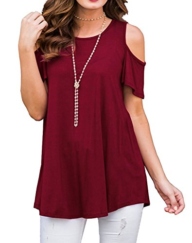 Meannic Women Summer Spring Sheath Slim Fit Evening Tube Formal Work Graduation Club Night Homecoming Ladies Dress for Juniors Teens Wine Red,L