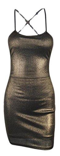 metallic colorblock bandage dress - 4