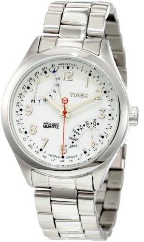 Timex Men's T2N506 Intelligent Quartz T Series Perpetual Calendar White Dial Bracelet Watch