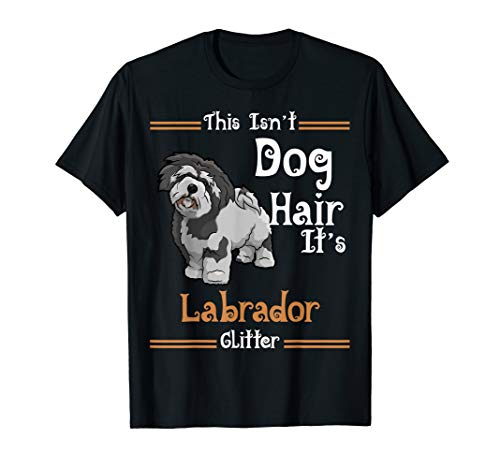 This Isn't Dog Hair It's Lhasa Apso Glitter Dog T-Shirt (Lhasa Apso Hair)