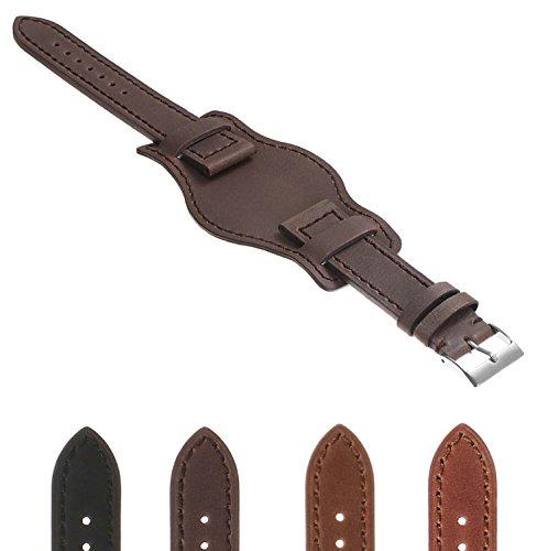 DASSARI Legend Distressed Vintage Style Bund Leather Watch Band 18mm 19mm 20mm 21mm 22mm -