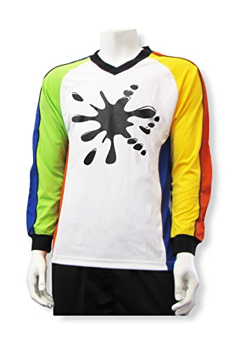 Graphic Jersey Goalkeeping (Black Splatt Soccer Goalkeeper Jersey, Customized With Your Name and Number - size Youth M)