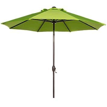 Captivating Abba Patio 9 Feet Patio Umbrella Market Outdoor Table Umbrella With Auto  Tilt And Crank,