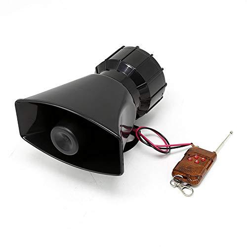 Cacys-Store - 80W 5 Tone 12V Car Truck Alarm Police Speaker PA Siren Horn MIC Kit ()
