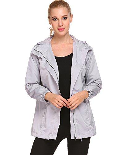 Lightweight Jackets Waterproof (Easther Womens Outdoor Waterproof Lightweight Windbreaker Raincoat Hooded Rain Jacket)