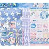 Chase Rainbows Unicorn 12x12 Scrapbooking Page Kit, Planners, Journals, Scrapbooks, Photo Journals