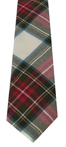 Stewart Dress Weathered Wool Plaid Check Tartan Necktie (Stewart Tie Tartan)