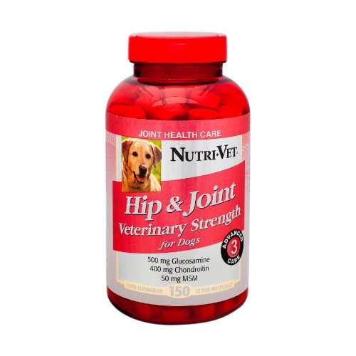 Nutri-Vet Hip and Joint Level 3 Chewable Tablet for Dogs, 150-Count, My Pet Supplies
