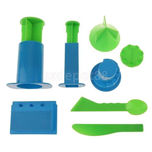 Teak Long Model (VIPASNAM-6pcs Sand Mold Tool for Castle Wall Model Beach Outdoor Toy for Kids )