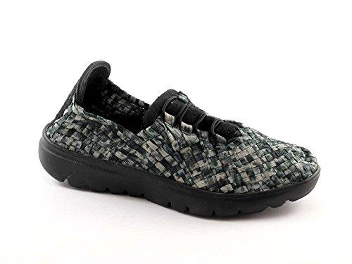 Tomaia Sneakers Donna Elas Elasticizzata Slip Grunland Scarpe Grigio Sc1979 On R7Uqw