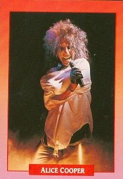 (Alice Cooper trading card (The Godfather of Shock Rock) 1991 Brockum Rock Music #110)