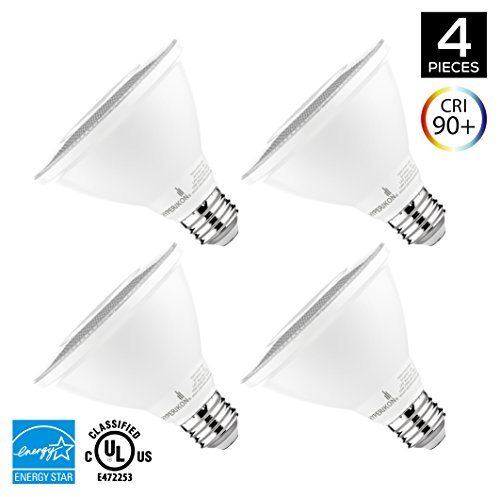 Hyperikon PAR30 Short Neck LED Bulb, Dimmable, 10W (65W Equivalent), 2700K (Warm White), 800 lm, CRI 90+, Flood Bulb, Medium Base (E26), UL & ENERGY STAR - Great for Living Room, Basement (4 Pack)