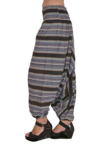 Jaipur Kala Kendra algodón Auto diseño de la mujer Harem Pantalones Baggy pantalones negro
