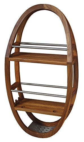AquaTeak The Original Moa Teak & Stainless Shower Organizer from AquaTeak