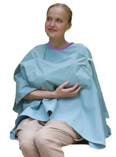 Broncho Lactancia de poncho, 100% algodón orgánico morado Talla:talla única Duck Egg Blue
