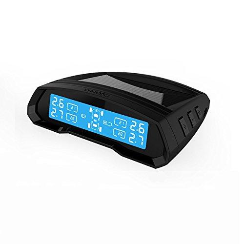 HITSAN T802 Car Tire Pressure Monitor System 4 External Sensor Solar Mini USB Connection Mode One Piece