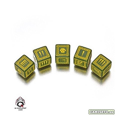 Ork Dice D6 Green/Yellow (5) Board Game