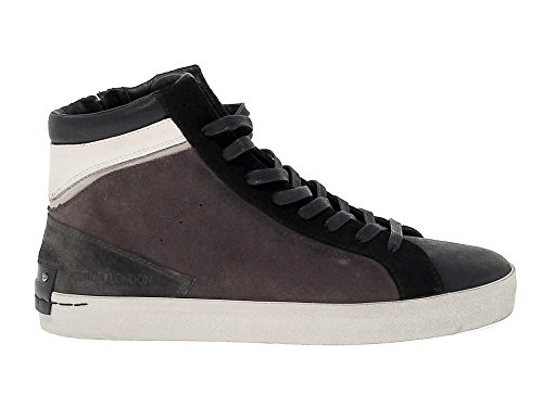 Crime London Hi Top Sneakers Uomo 11004A1762 Camoscio Grigio