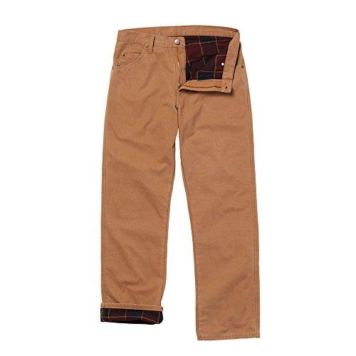 Wrangler Flannel-Lined Five-Pocket - Lined Jeans Flannel Wrangler