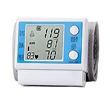 Electronic Wrist Blood Pressure Monitor Sphygmomanometer Pulse Rate Detecting Large LCD Screen Smart Pressure Auto-Increasing