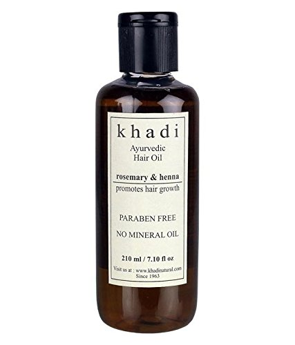 Khadi Hair Growth Oil - Rosemary & Henna (Paraben Free) Hair Oil 210Ml ()
