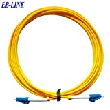 EB-LINK LC to LC Fiber Optic Cable Jumper Patch Cord Simplex Single-mode 9/125 LC-LC,2 Meters (6.56 feets)