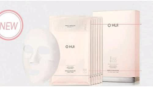 OHUI Miracle Moisture Ampoule and Cream Face Mask Pack 22ml x6EA with Sample Gift