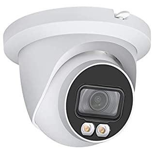 4MP Full-Color Night Vision PoE IP Camera OEM IPC-HDW3449TM-AS-LED, 2.8mm Fixed Lens, Warm LED Fixed-Focal Eyeball WizSense Network Camera with H.265+, IP67, SD Card Slot, Onvif, IVS, Built-in MIC