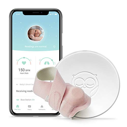 Owlet Baby Monitor, Owlet Smart Sock 2 - Track Heart Rate & Oxygen Levels - with Smart Notifications - See Hours Slept and Historical Trends - The Ultimate Baby Monitor for Peace of Mind (Pink) from Owlet