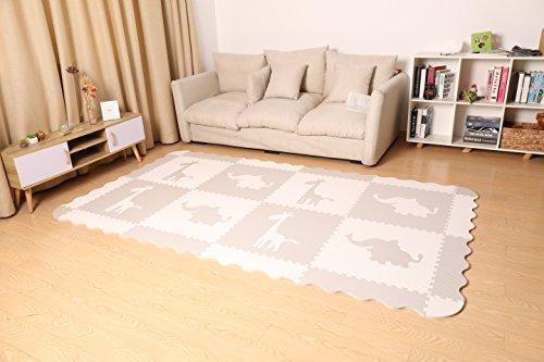 4 grande tappetino da gioco per bambini grigio in rilievo con