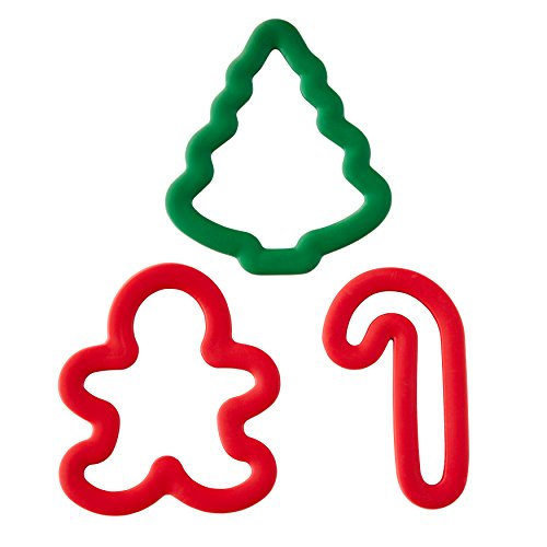Wilton Holiday Comfort-Grip Cookie Cutter Set, 3-Piece