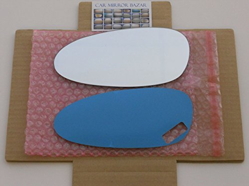 CHECK SIZE - New Replacement Mirror Glass with FULL SIZE ADHESIVE for PORSCHE 911 Boxster Cayman Driver Side View Left LH