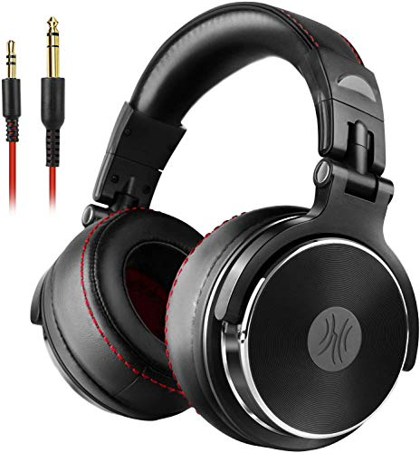 OneOdio Over Ear Kopfhörer mit Kabel, HiFi Studiokopfhörer mit Hi-Res, 50mm Treiber, Share-Port, Große Ohrmuscheln, 6,35…