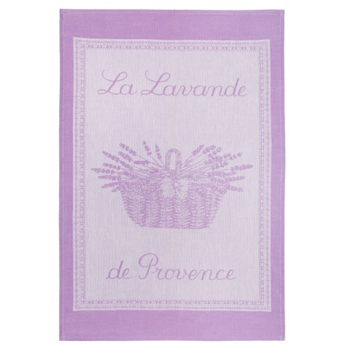 COUCKE French Jacquard Cotton Kitchen Dish Towel French Table Collection, Lavander PJ, 20-Inches by 30-Inches, Lilac