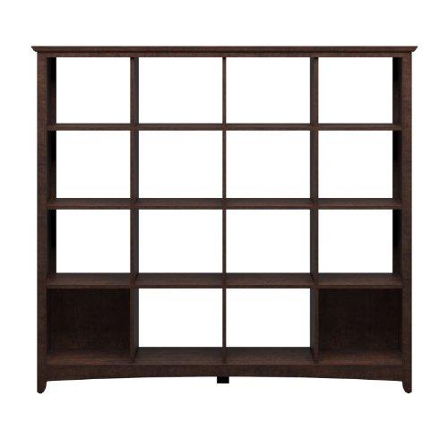 Bush Buena Vista 16-Cube Storage Bookcase - Madison Cherry